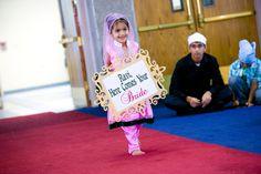 Indian Bride, Indian Wedding, Punjabi Wedding, Pink wedding, Flower Girl, Here comes the bride, Sign
