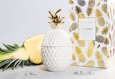 JewelryShippingFragranceThe pineapple has been recognized as the princess of all tropical fruits. It is an energetic symbol of warmth, vibrance and hospitality. This decorative jar offers an inviting scent of juicy pineapple and creamy coconut, perfect for any room that could use a touch of glam....
