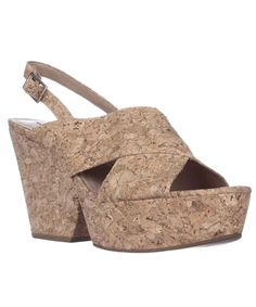 DIANE VON FURSTENBERG Diane Von Furstenberg Liberty Wedge Sandals - Natural Cork'. #dianevonfurstenberg #shoes #sandals