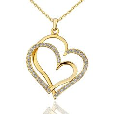Buy LIGHTMOON Swarovski Crystal Necklace Extender - Gold - and others fashion jewelry perfect for women online with big discount. Swarovski Crystal Necklace, Gold Plated Necklace, Crystal Jewelry, Silver Necklaces, Swarovski Crystals, Silver Jewelry, Gold Jewellery, Jewlery, Double Heart Necklace