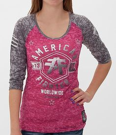 American Fighter Jacksonville T-Shirt - Women's T-Shirts in Pink Charcoal Burnout New Wardrobe, Wardrobe Ideas, American Fighter Shirts, Casual Outfits, Casual Clothes, Cute Shirts, Under Armour, Pants For Women, Dress Up