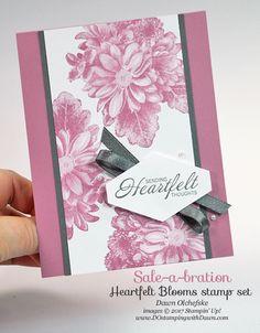 Sale-a-Bration Heartfelt Blooms card by Dawn Olchefske for DOstamperSTARS Thursday Challenge #DSC263 #dostamping #stampinup #handmade #cardmaking #stamping #diy #sympathy #saleabration #sab