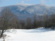Vermont mountains in winter from Brandon