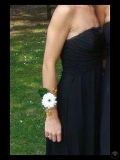 Germini wrist corsage on custom made bracelet
