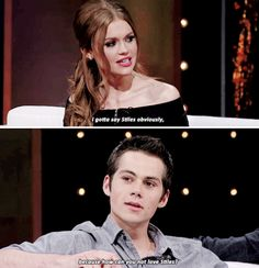 #TeenWolf cast - Holland Roden and Dylan O´Brien - If you could be any other character who would you be?