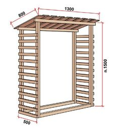 For wood outside Outdoor Firewood Rack, Firewood Storage, Outdoor Storage, Outdoor Projects, Wood Projects, Bin Shed, Outdoor Fireplace Designs, Log Store, Lawn Furniture