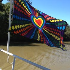 Little suzie's flag! (she is a houseboat)