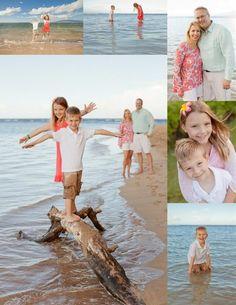 Bing : family beach photos ideas (Love the kids standing on drift wood)