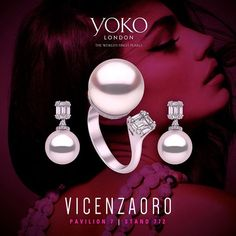 We are exhibiting our exquisite #pearl designs at @vicenzaoro until Wednesday…