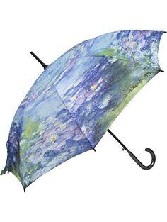 MONET Water Lilies Lg. STICK UMBRELLA auto release ❤ Galleria Enterprises Inc.