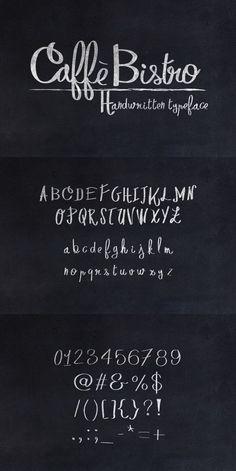 CaffèBistro Handwritten Typeface. Fonts. $4.00