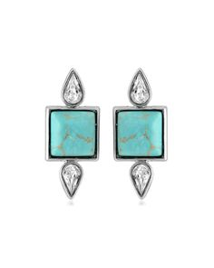 Turquoise San Francisco Earrings - JewelMint