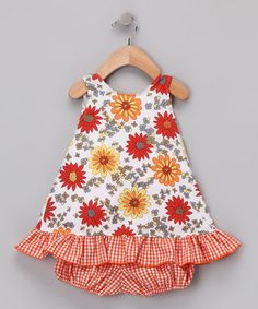 Take a look at this Orange Daisies Swing Top & Bloomers - Infant by Beary Basics on #zulily today!