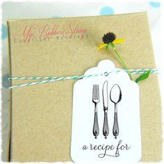 Kitchen Self Inking Stamp Fork Knife & Spoon. by myrubberstamp, $32.00