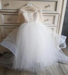 Custom Made Flower Girl Dress Fashion Flowergirl Dress KF03 – kelendress