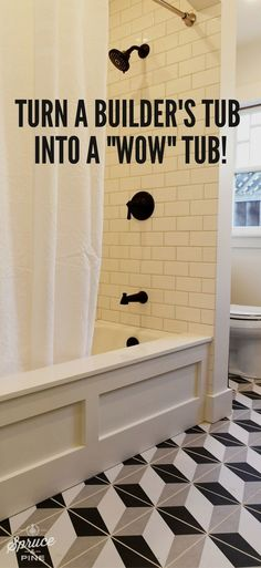 DIY bathroom home decor and design hack! Even the most basic bath tub can be exp… DIY bathroom home decor and design hack! Even the most basic bath tub can be expensive and cheap. Diy Home Decor Rustic, Easy Home Decor, Cheap Home Decor, Home Decor Hacks, Diy Home Decor On A Budget, Affordable Home Decor, Decor Crafts, Modern Decor, Home Renovation