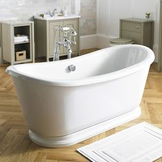 Old London - Greenwich Double Ended Slipper Freestanding Bath with Skirt - LDB002