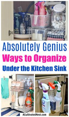 Under The Kitchen Sink Organizing Ideas-Unsure how to organize under the kitchen., Under The Kitchen Sink Organizing Ideas-Unsure how to organize under the kitchen…, Under Kitchen Sink Organization, Under Kitchen Sinks, Clean Kitchen Cabinets, Pantry Organization, Organizing Ideas, Space Kitchen, Bathroom Storage, Diy Garage Storage, Sink Organizer