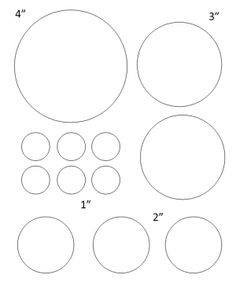 Circles of Different Sizes - large and small - 1 inch.lots of other circle templates for labels and such, too! Heart Shapes Template, Shape Templates, Circle Template, Circle Labels, Stencil Templates, Stencil Patterns, Circle Pattern, Templates Printable Free, Free Printables