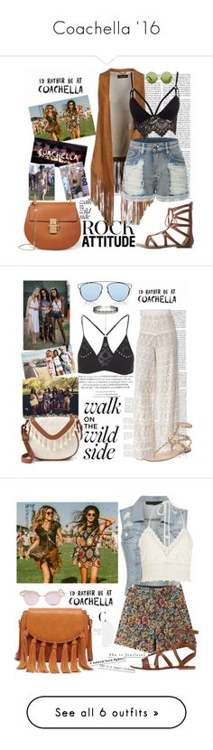 """Coachella '16"" by fashion-sense-xo ❤ liked on Polyvore featuring Edition, Charlotte Russe, Victoria, Victoria Beckham, Chloé, Nora Barth, LE3NO, Club L, Christian Dior, H&M and Alice + Olivia"