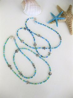 Items similar to Blue Eyeglass Chain With Ocean Beads, Blue Beaded Eyeglass Chain, Glasses Chain, Eyeglass Chains, Glasses Necklace for Women on Etsy Beaded Choker, Beaded Bracelets, Beaded Lanyards, Seed Bead Necklace, Body Jewellery, Beach Jewelry, Blue Beads, Handmade Jewelry, Chain