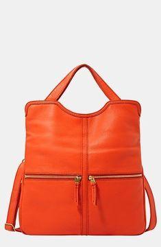 Fossil 'Erin' Foldover Tote Bright Orange on shopstyle.com