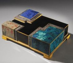 Enamel and lacquer box by Jean Dunand and Jean Goulden