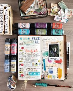 Travel journal ideas and techniques. Inspiration for keeping a scrapbook, art journal, or sketchbook while on the road Journal Diary, Art Journal Pages, Journal Notebook, Art Journals, Journal Ideas, Bujo Inspiration, Bullet Journal Inspiration, Midori, Creative Journal