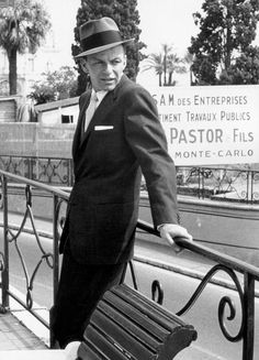 Frank Sinatra in Monte Carlo, photographed by Edward Quinn (1958)
