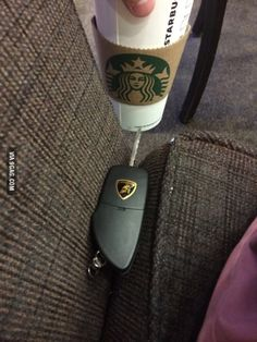 I kinda found keys to a Lambo in a seat cushion in Starbucks...Whaaaat?? lol