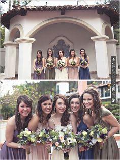 pastel bridesmaid dresses | CHECK OUT MORE IDEAS AT WEDDINGPINS.NET | #bridesmaids