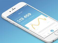 Wallet App Concept  #金融# #数据#
