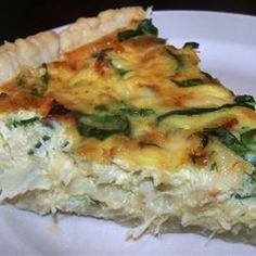 Crab and Swiss Quiche- use real crab & add Old Bay & Spinach