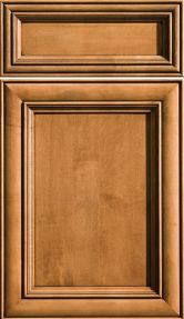 Sophia, Cabinetry, Cabinet Door, Shown in Maple / Clove, Black Accent Finish