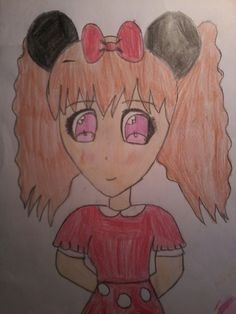 Minnie anime girl Creation oh my little drawing