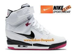 hot sale online 9aee8 96729 Nike Air Revolution Sky Hi GS Chaussures Nike Basket Pas Cher Pour Femme  Blanc Rose 599410-103-1703020019-Chaussures de Basket, Nike Tn Requin Pas  Cher