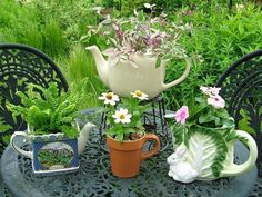 Time for Tea Containers For the Garden.