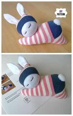 Sew Sock Cute Sock Bunny Projects Round Up - Sew Sock Cute . - Eleanor Morgan - Sew Sock Cute Sock Bunny Projects Round Up - Sew Sock Cute . Sew Sock Cute Sock Bunny Projects Round Up - Sew Sock Cute Sock Bunny Projects Round Up - - Cute Diy Crafts, Sock Crafts, Fabric Crafts, Crafts With Socks, Decor Crafts, Fabric Toys, Creative Crafts, Sewing Toys, Sewing Crafts