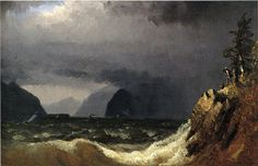 Storm King of the Hudson by Sanford Robinson Gifford