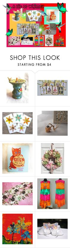 """""""A Bit of Whimsey"""" by artbymarionette ❤ liked on Polyvore featuring interior, interiors, interior design, home, home decor, interior decorating, vintage, handmade, EtsySpecialT and crazy4etsy"""