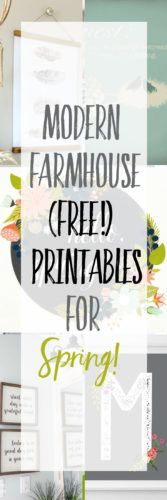 Modern Farmhouse Printables for Spring