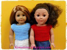 Kimations: American Girl Basic DC Short Sleeve Top