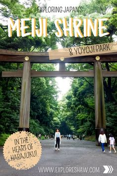Exploring the hidden Meiji Shrine, one of Japan's most popular temples, found deep in the greenery of Yoyogi Park near Harajuku. Japan Travel Tips, China Travel, India Travel, Travel Nepal, Winter In Japan, Meiji Shrine, Yoyogi Park, Japanese Travel