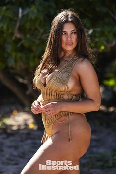 Ashley Graham was photographed by Josie Clough in Nevis. Swimsuit by Indah Clothing.