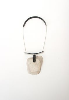 Julia Obermaier Necklace – Rockcrystall, Paint, Steel, 8kt Gold
