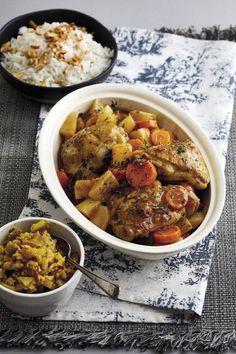 'n Heilsame hoendergereg wat vinnig voorberei kan word. Chana Masala, Food Network Recipes, Stew, Curry, Ethnic Recipes, Kos, Instant Pot, Drink, Fitness
