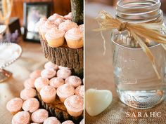 Rustic/vintage decor ideas for wedding or showers from SarahCPhotography