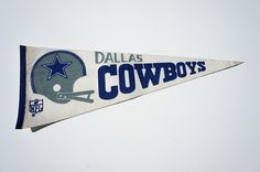 Vintage Dallas Cowboys Pennant by TheBrotique on Etsy, $24.00
