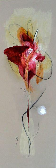 "Saatchi Art Artist: Julia Pinkham; Acrylic 2013 Painting ""Wild Flowers 1"" Sea Flowers, Mixed Media Canvas, Saatchi Art, Original Paintings, Abstract Art, Watercolor, Plants, Painters, Tattoos"