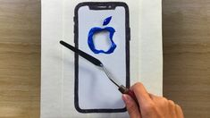 Iphone Wallpaper 📱 Acrylic Painting with Masking Tape /  Painting Tutorial #90 / Satisfying ASMR